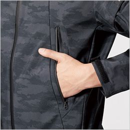 バートル 3190 ストレッチフーデッドジャケット(男女兼用) ウォームポケット
