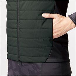 バートル 3214 [秋冬用]ストレッチ軽防寒ベスト サーモクラフト対応(男女兼用) ボンディング素材