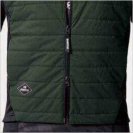 バートル 3214 [秋冬用]ストレッチ軽防寒ベスト サーモクラフト対応(男女兼用) ダブルジッパー仕様