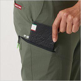 バートル 407 [春夏用]コーデュラショートカーゴパンツ(男女兼用) 長財布・レベルブック収納ポケット(深さ21cm)