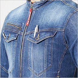 バートル 5001 [秋冬用]ストレッチデニムジャケット(男女兼用) 胸ペンさし