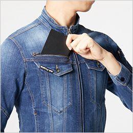 バートル 5011 [春夏用]コーデュラCOOLストレッチデニムジャケット(男女兼用) レベルブック収納ポケット(深さ21cm)