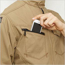 バートル 5101 [春夏用]リップクロスジャケット(綿100%)(男女兼用)  Phone収納ポケット