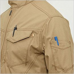 バートル 5101 [春夏用]リップクロスジャケット(綿100%)(男女兼用)  ペンさし