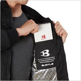 バートル 5260 [秋冬用]MA-1 フライト防寒ジャケット(男女兼用) 内ポケット(マジックテープ止め)