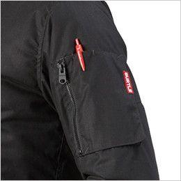 バートル 5260 [秋冬用]MA-1 フライト防寒ジャケット(男女兼用) ファスナ―ポケット(ペン差し付き)