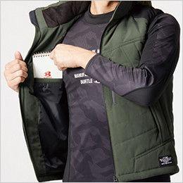 バートル 5274 [秋冬用]防寒ベスト(大型フード付き) サーモクラフト対応(男女兼用) 内ポケット
