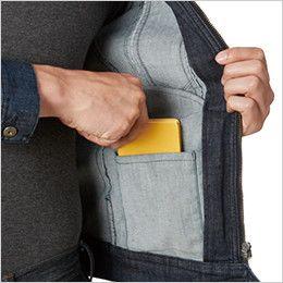 バートル 531 ストレッチデニムジャケット(男女兼用)  内ポケット