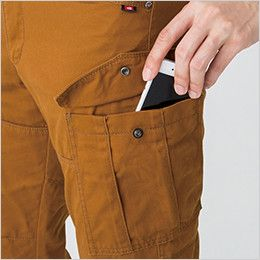バートル 5502 綿100%チノクロスカーゴパンツ(男女兼用) Phone収納ポケット