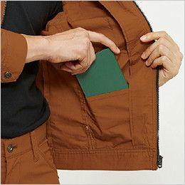 バートル 5511 [春夏用]綿100%リップクロスジャケット(男女兼用) 内ポケット