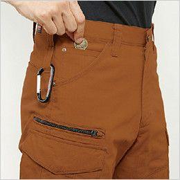 バートル 5512 [春夏用]綿100%リップクロスカーゴパンツ(男女兼用)裾上げNG ツインループ・コインポケット