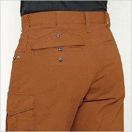 バートル 5512 [春夏用]綿100%リップクロスカーゴパンツ(男女兼用)裾上げNG サイズチップ・ピスフラップ
