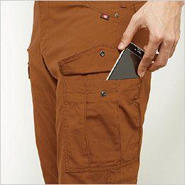 バートル 5512 [春夏用]綿100%リップクロスカーゴパンツ(男女兼用)裾上げNG Phone収納ポケット