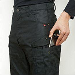 バートル 5512HB ヘリンボーンカーゴパンツ 裾上げNG(男女兼用) Phone収納ポケット