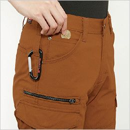 バートル 5519 [春夏用]綿100%リップクロスレディースカーゴパンツ 裾上げNG(女性用) ツインループ 右 コインポケット