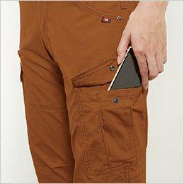 バートル 5519 [春夏用]綿100%リップクロスレディースカーゴパンツ 裾上げNG(女性用) Phone収納ポケット
