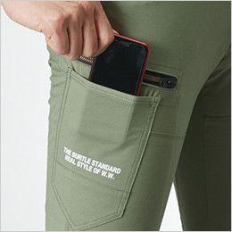 バートル 592 [春夏用]ストレッチ カーゴパンツ(男女兼用) スマートフォン収納ポケット