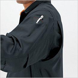 バートル 6033 長袖シャツ(男女兼用) アームノーフォークメッシュ