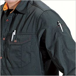 バートル 6033 長袖シャツ(男女兼用)  内ペンさし