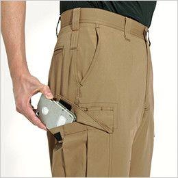 バートル 6072 [秋冬用]制電T/Cソフトツイルカーゴパンツ(JIS T8118適合)(男女兼用)  Phone収納ポケット