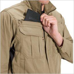 バートル 6091 [秋冬用]制電ソフトツイルジャケット(男女兼用)  レベルブック収納ポケット