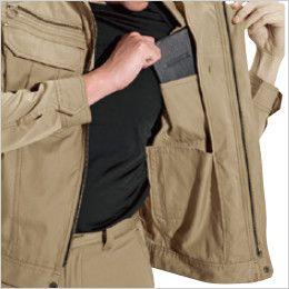 バートル 6091 [秋冬用]制電ソフトツイルジャケット(男女兼用)  内ポケット