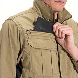 バートル 6101 [春夏用]制電T/Cライトチノジャケット(男女兼用)  レベルブック収納ポケット