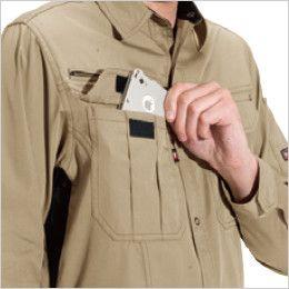 バートル 6103 [春夏用]制電T/Cライトチノ長袖シャツ(男女兼用)  Phone収納ポケット