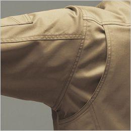 バートル 7051 [秋冬用]T/Cストレッチツイル長袖ジャケット(男女兼用) 背アームノーフォーク