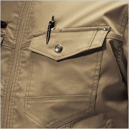 バートル 7051 [秋冬用]T/Cストレッチツイル長袖ジャケット(男女兼用) 胸ペンさし