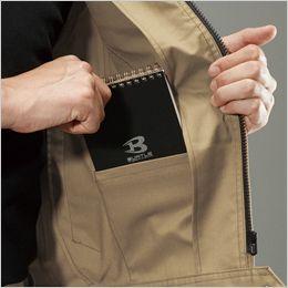 バートル 7051 [秋冬用]T/Cストレッチツイル長袖ジャケット(男女兼用) 内ポケット