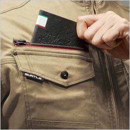 バートル 7051 [秋冬用]T/Cストレッチツイル長袖ジャケット(男女兼用) レベルブック収納ポケット