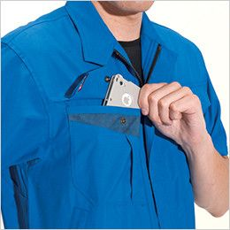 バートル 7062 [春夏用]ソフトトロピカル半袖ブルゾン(男女兼用) Phone収納ポケット