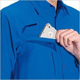 バートル 7063 [春夏用]長袖シャツ(男女兼用) Phone収納ポケット