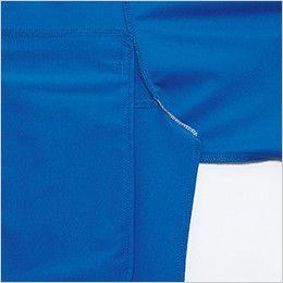 バートル 707 トリコット半袖ワークシャツ(男女兼用) 消臭テープ仕様