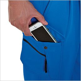 バートル 7072 ストレッチツイルツータックカーゴパンツ(男女兼用) Phone収納ポケット