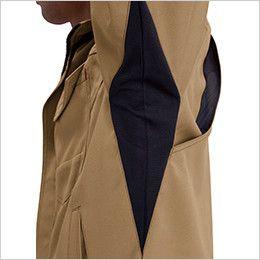 バートル 7091 [春夏用]ドビークロス長袖ジャケット(JIS T8118適合)(男女兼用) 45ダイヤカット吸汗ニット素材