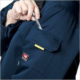バートル 7111 [秋冬用]パイピング防寒コート(男女兼用) ポケットペンさし