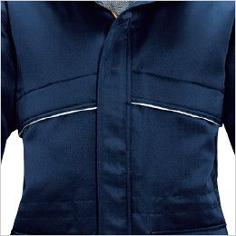 バートル 7111 [秋冬用]パイピング防寒コート(男女兼用) リフレクターバイビングデザイン