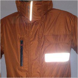 バートル 7211 [秋冬用]サーモトロン防寒コート(大型フード付)(男女兼用) リフレクターバイビング