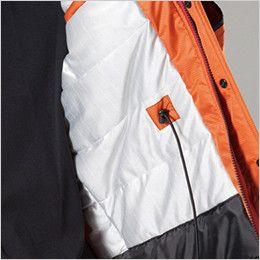 バートル 7211 [秋冬用]サーモトロン防寒コート(大型フード付)(男女兼用) コードスピンドル付(全天候型保温素材)