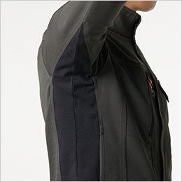 バートル 7301 [秋冬用]2WAYストレッチツイル ジャケット(JIS T8118適合)(男女兼用) 腕をスムーズに動かせます