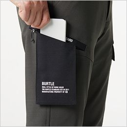 バートル 7302 [秋冬用]2WAYストレッチツイル カーゴパンツ(JIS T8118適合)(男女兼用) Phone収納防水ポケット※汗などから収納物を守るもので、完全防水ではありません。