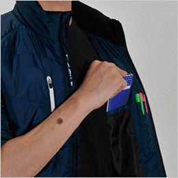 バートル 7316 [秋冬用]PUコーティング半袖防寒ブルゾン(男女兼用) 内ペンポケット