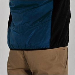 バートル 7316 [秋冬用]PUコーティング半袖防寒ブルゾン(男女兼用) ニットバイビング