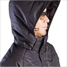 バートル 7510 [秋冬用]リップクロス防寒ジャケット(大型フード付)(男女兼用) サイズ調整が可能なスピンドル付き