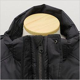 バートル 7510 [秋冬用]リップクロス防寒ジャケット(大型フード付)(男女兼用) あごを守るチンガード付