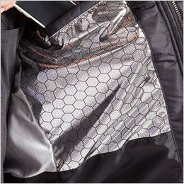 バートル 7510 [秋冬用]リップクロス防寒ジャケット(大型フード付)(男女兼用) アルミフィルムラミネート加工(ボディ胸面)