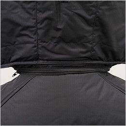 バートル 7510 [秋冬用]リップクロス防寒ジャケット(大型フード付)(男女兼用) ファスナー付きで取り外し可能な大型フード