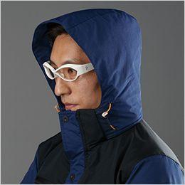 バートル 7610 [秋冬用]防水防寒ジャケット(男女兼用) 大型フードスピンドル付き(マジックテープ+ファスナー脱着)(フード裏:アルミフィルムラミネート加工)